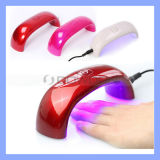 Rainbow 6W 9W LED Light Bridge Shaped Mini Curing Nail Dryer Nail Art UV Lamp Care Machine