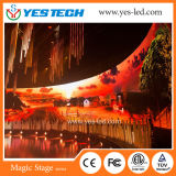 P4.8mm Stage Background LED Video Curtain (Could be Curved installation)