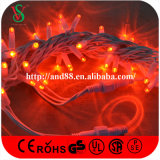 Outdoor Rubber Cable Red LED Fairy Lights