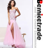 Silm Long Pink Sweetheart Prom Wedding Evening Party Dress