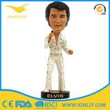 Cheap Elvis Presley Polyresin Bobble Head Figurine for Holiday Decoration