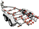 Heavy Duty Hot Galvanized Boat Trailers with 2 Axles 4 Wheels