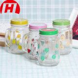 Glass Mason Jar with Handles