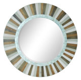 Home Decorative Round Wood Venetian Wall Mirror