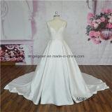 V-Neck Satin A-Line Wedding Dress