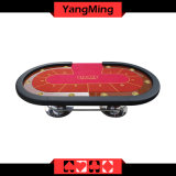 2017 New Custom Design Oval Disk Feet 2 Generation Upgrade Texas Poker Table 10 Seat Poker Table with Dealer Position Ym-Tb017