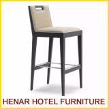 Wooden Frame Leather Surface Modern Bar Chair Stool for Restaurant Cafe Furniture