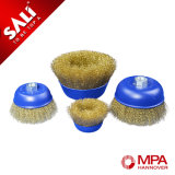 4inch Hcs Brass Wire Cup Brush for Removing Rust