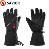 Waterproof Leather Rechargeable Battery Heated Skiing Glove Sport Gloves