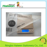 Haiwen Brand New Ruler Sets Office 24cm Triangle Rulers 2PC PVC Packing