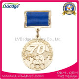 Metal Pin Badge Medal with Plating Gold