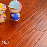 White Oak Flooring with Stain Color Handscrpaed Wood Flooring