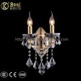 Clear Black Golden Iron Wall Light