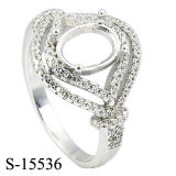 Silver Jewelry CZ Rings Without Center Stone