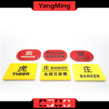 Acrylic Baccarat Casino Table Games Marker Banker / Player Marker Dealer Button Set Ym-dB04