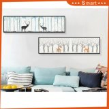 Two Panels Framed Home Goods Wall Art Canvas Painting with Deer