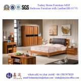 Mahogany King Size Bed Luxury Bedroom Furniture (SH-017#)