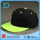 Black Fashion Sports Promotional Leather Wool Wholesale Snapback Cap