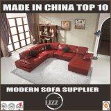 Red U Shape Bonded Leather Sofa (LZ129)