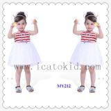 100% Cotton Girls Blouse Short Dress Children Clothing Dresses for Little Girls