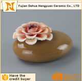 Aroma Stone Jar Ceramic Perfume Bottle with Flower Cap