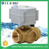 3 Way Horizontal Brass Motorized Water Ball Valve (T20-B3-C)