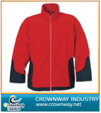 Women′s Fleece Jacket with Contrast Side Panel