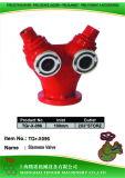 "Steel Hydrant Siamese Valve: 100mm-2X3""Storz"