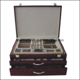 113PCS Stainless Steel Cutlery Set in Wooden Case (CT547)