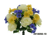 Artificial/Plastic/Silk Flower Rose/Daisy/Hydrangea Mixed Bush (2918098-19)