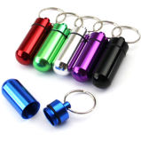 Waterproof Mini Key Chain Aluminum Tablet Storage Medicine Pill Box
