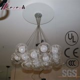 European Hotel Decorative Clear Glass Round Pendant Lamp