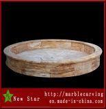 Beige Marble Carving Fountain Pool (NS-1129)