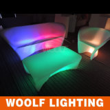 Glow LED Garden Patio Coffee Sofa Set