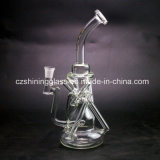 Fashion Design Clear Color Glass Recycler Water Pipe for Smoking Czs051
