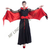 2017 Wholesale Halloween Splendid Long Vampire Dress Devil Cosplay Costume