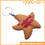 Soft Rubber PVC Key Ring with Stars (YB-PK-51)