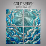 White&Blue Cloud Metal Oil Painting for Decoration