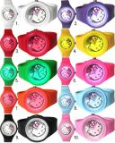 Wholesale Colorul Fashion Changeable Face Sports Silicone Jelly Watch