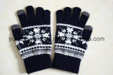 Knitted Acrylic Warm Jacquard Magic Touch Screen Gloves/Mittens