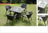 Classic Wicker Patio Furniture Outdoor Rattan Modern Dining Set