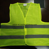 Basic Safety Vest Flu Yellow 100%Polyester Knitting Fabric