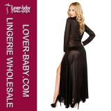2PCS Sexy Robe Gown Women Sheer Lingerie (L51298)