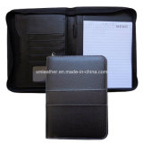 A5 Zipper Leather Organiser with Pad