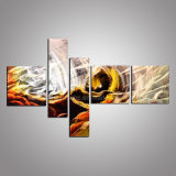 3D Metal Wall Art with Abstract Design for Decoration