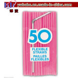 Pink Flexible Drinking Straws Kids Party Item (W1056)