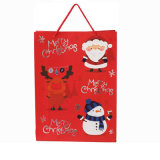 Factory Made Christmas Paper Gift Bag with String