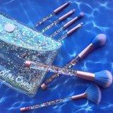 7PCS Liquid Glitter Crystal Handle Makeup Brush