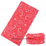 Factory Produce Custom Design Print Polyester Paisley Neck Tube Scarf
