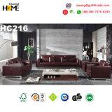 Italian Modern Furniture Red Genuine Leather Sofa Set (HC216)